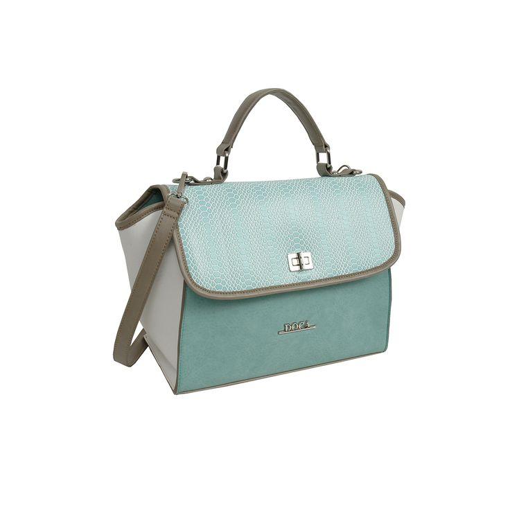 Καθημερινή τσάντα γαλάζια-άσπρη