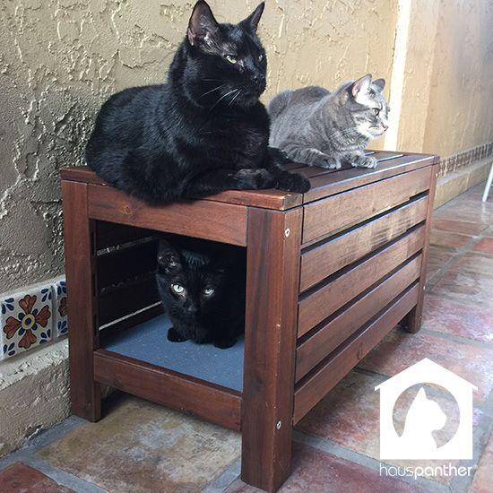 Hack Easy Diy Cat Hideaway With 196 Pplar 214 Bench From Ikea