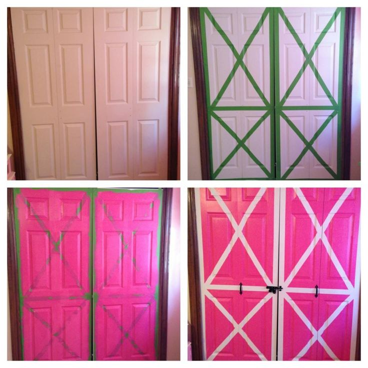 Katie's barn door closet doors. We still need to add the faux hinges but you get the idea. :)