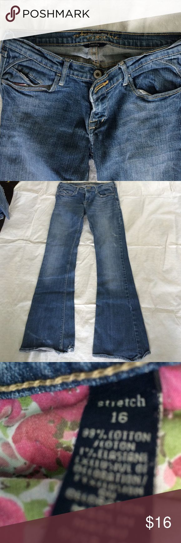 Abercrombie girls stretch size 16 Loved but lots of life Bottoms Jeans