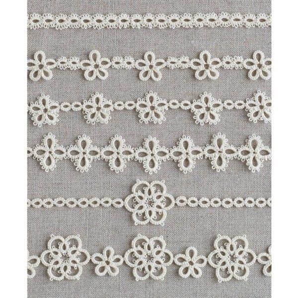 Tatting Lace 6 Patterns -Braid- Japan Clover Motif Instructions 2 shuttles use