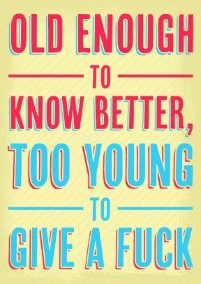 Old Enough | Rude Birthday Card