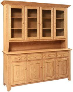 amish hutch for my amish set black bottom with a boston cherry stain on the