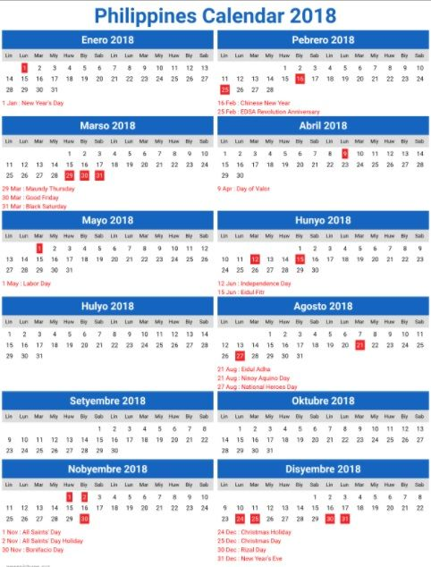 printable 2018 calendar for philippines philippine holidays holiday list january 2018 philippines