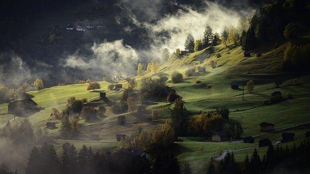 landscape, autumn, fog, 1711291044