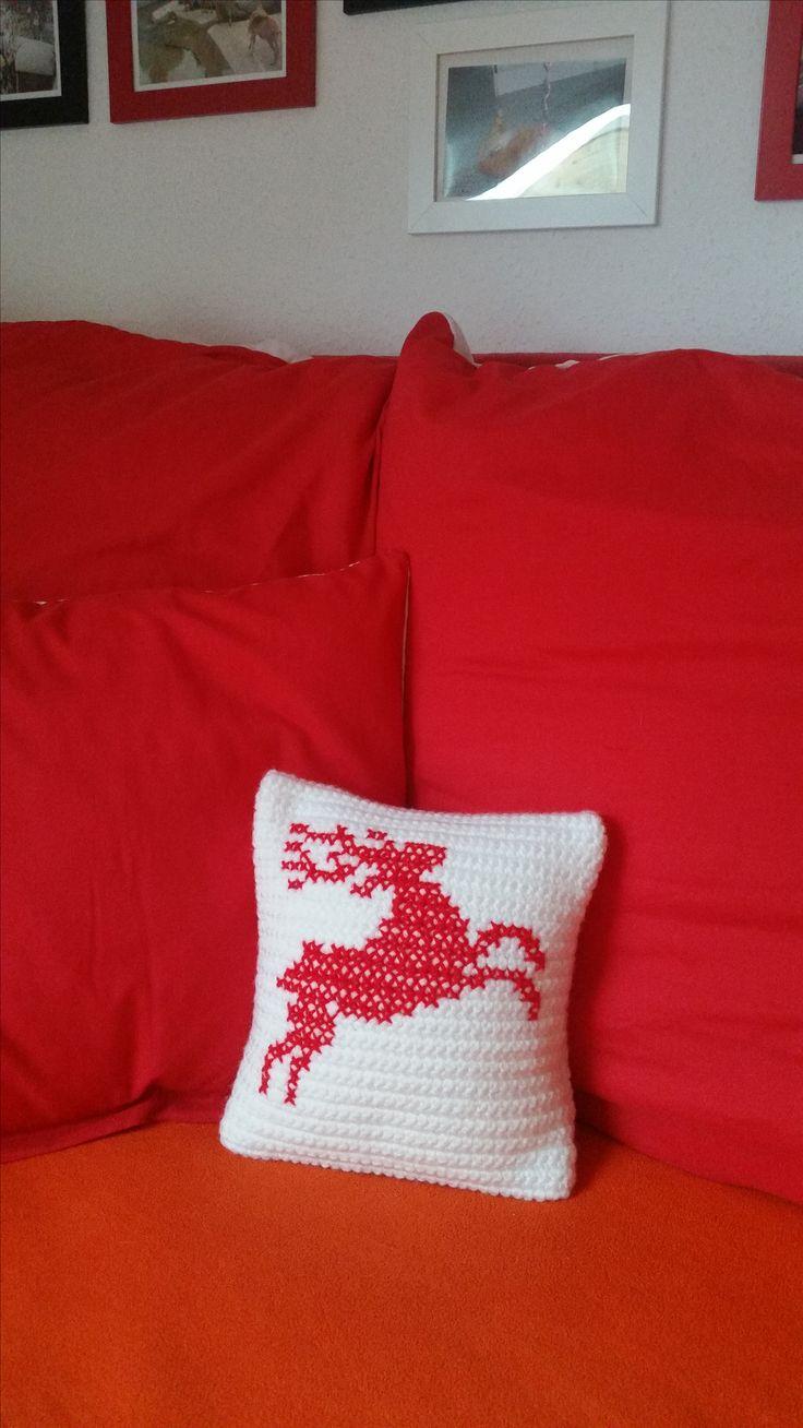 """Dekoidee für meinen Kissenbezug für Weihnachten 24x24 cm aus meinem Shop """"Made By EvE"""" auf DaWanda"""
