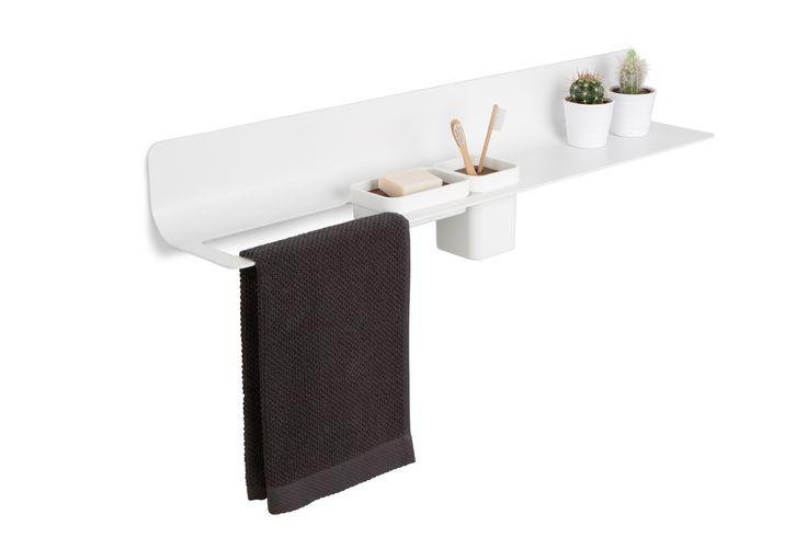 CURVÁ towel holder and shelf designed by Emiliano Aiardi for Lineabeta LAB 2013 #everydaydesign