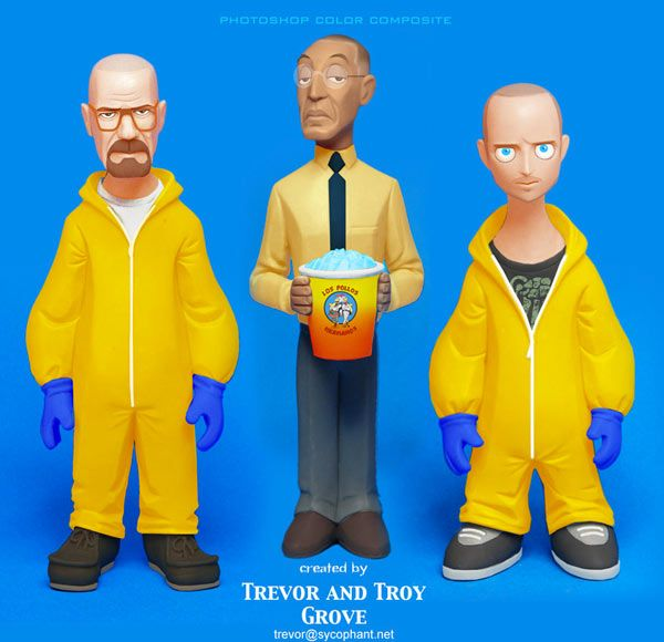 Trevor & Troy Grove : ils créent de superbes figurines de la série Breaking Bad