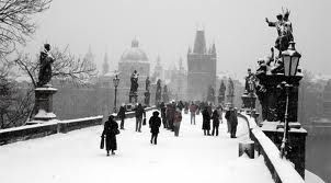 Prague - Charles bridge in winter