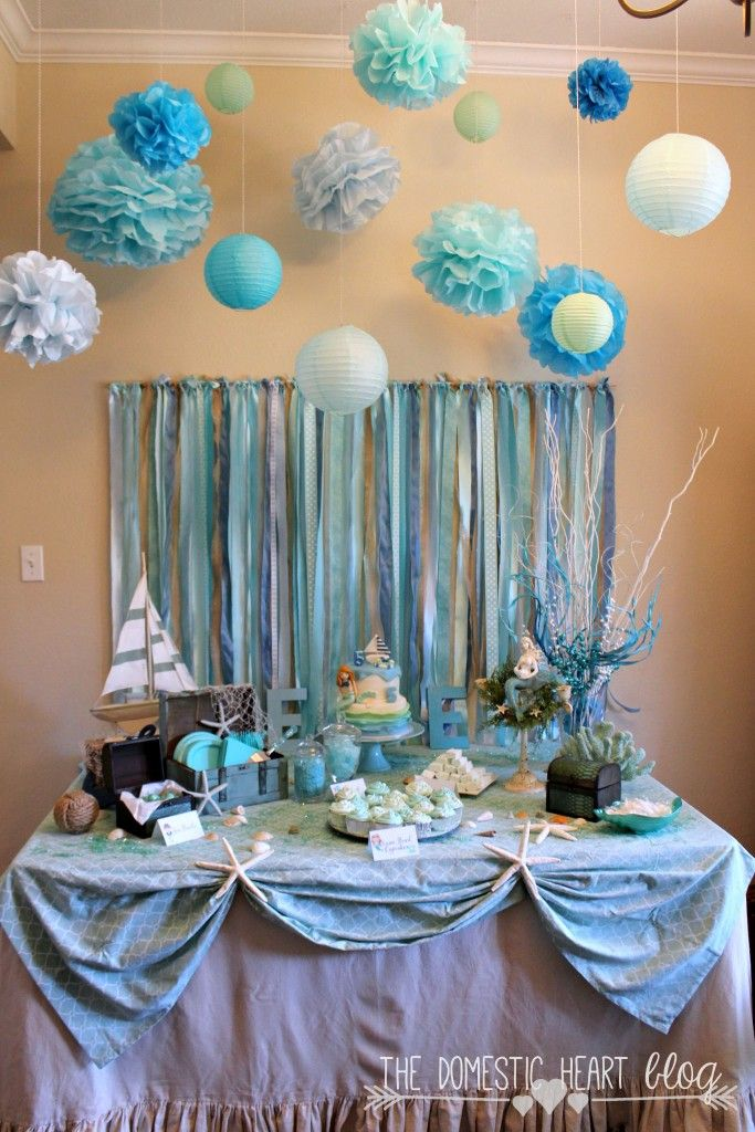 Mermaids and Sailors Birthday Party Theme Idea with lots