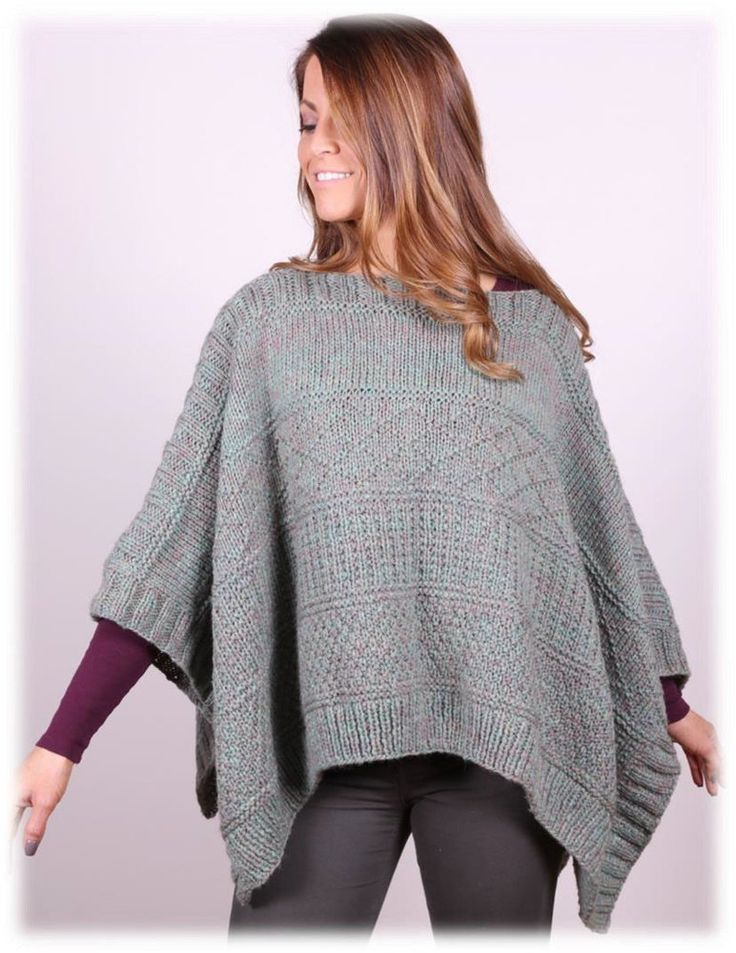 Poncho in Plymouth Yarn Tuscan Aire - 3035 is a FREE poncho knitting pattern by Plymouth Yarns.  Get the downloadable PDF from Loveknitting.