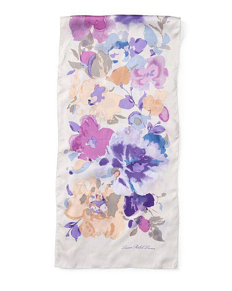 Amelia Floral-Print Silk Scarf