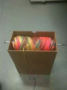 Prevents your yarn (crochet/knitting) from jumping all over the place when you do your work. Love it, so simple!