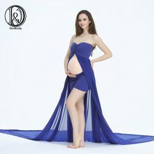 (320 cm de largo) Suave Gasa Vestido de Split frente Bowknot Estilo en la parte superior de Maternidad Apoyos de La Fotografía (sin pantalones cortos)(China (Mainland))