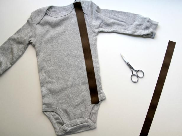 How to Add a Bow Tie and Suspenders to a Baby Onesie