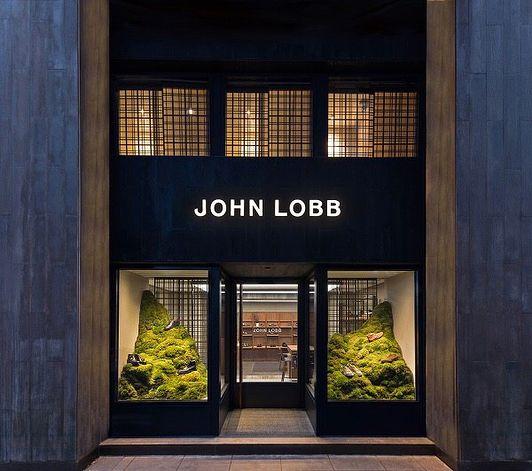 "JOHN LOBB, Hong Kong, China, ""The New Flagship Store"", photo by The Fashion Display, pinned by Ton van der Veer"