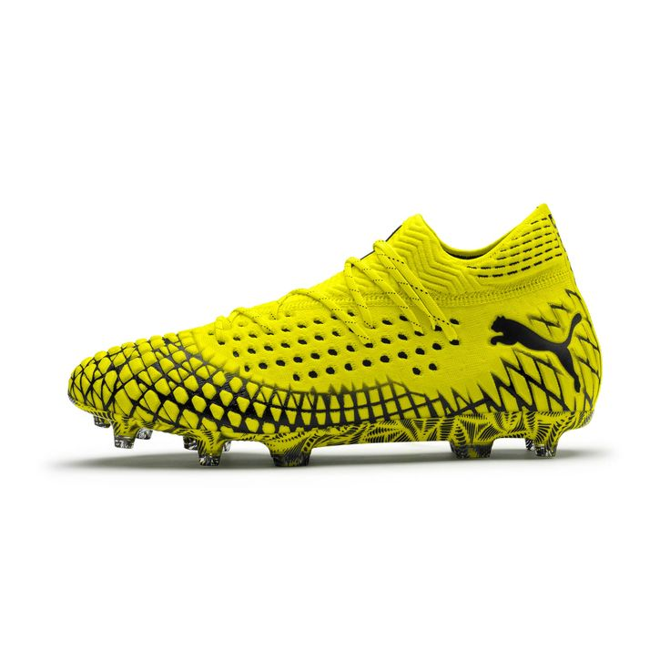 PUMA Future 4.1 NetFit FG/AG Men's Football Boots in Yellow Alert/Black size 6.5