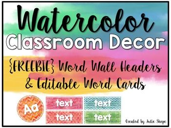 Add a peaceful and calming factor to your classroom with these beautiful word wall headers and word wall word cards! This packet will go great with your watercolor classroom decor!Included:Alphabet Word Wall Word Circle HeadersEditable Word Wall Words (make your own words- high frequency words, colors, shapes, numbers and your students names!)Take a peek at the preview to get a better look!