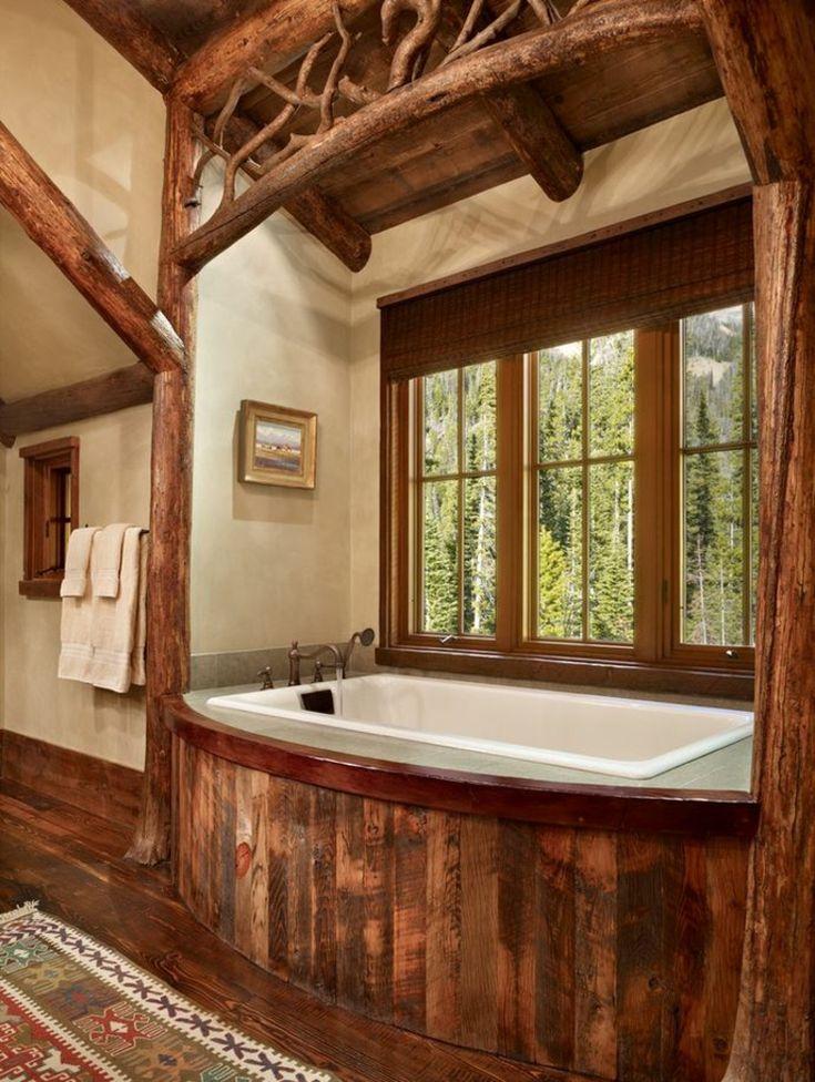 Maison rustique enti rement en bois au montana tats unis en 2019 int rieur maison - Maison en bois montana cutler ...