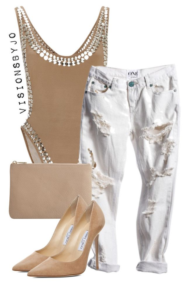 """Untitled #1500"" by visionsbyjo ❤ liked on Polyvore featuring Norma Kamali, Wittner, Jimmy Choo, women's clothing, women, female, woman, misses and juniors"