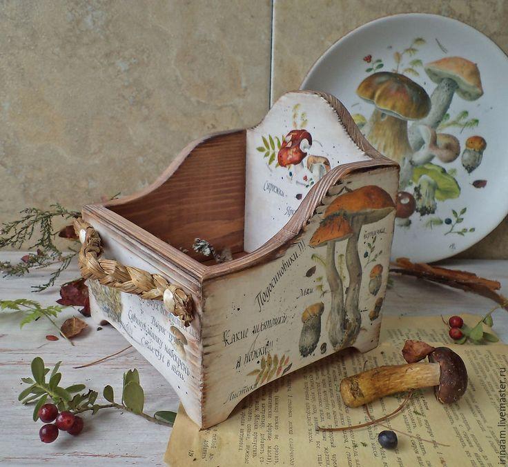 """Купить """" Тихая охота """" грибной короб для кухни - короб, короб для хранения"""