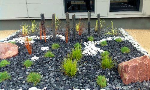jardin minéral et végétal | Création d'un jardin minéral agrémenté de plantes à…