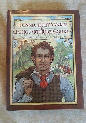 A Connecticut Yankee in King Arthur's Court Mark Twain Illustrated 1988 HCDJ