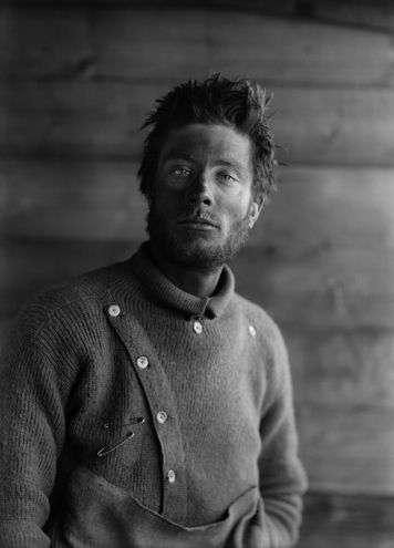 Portrait of B. Day, on return from the barrier, Scott Terra Nova Expedition, Anarctica, 1911
