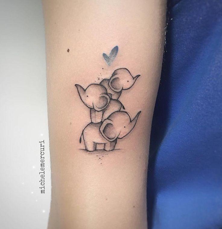Pin by Papapa on tatuagens in 2020 Cute elephant tattoo