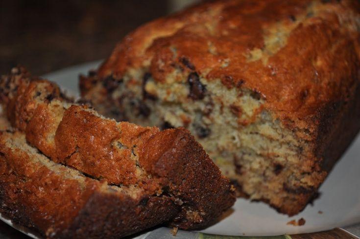 Moist Chocolate Chip Banana Bread Recipe - Creamty Recipes - All food recipe network