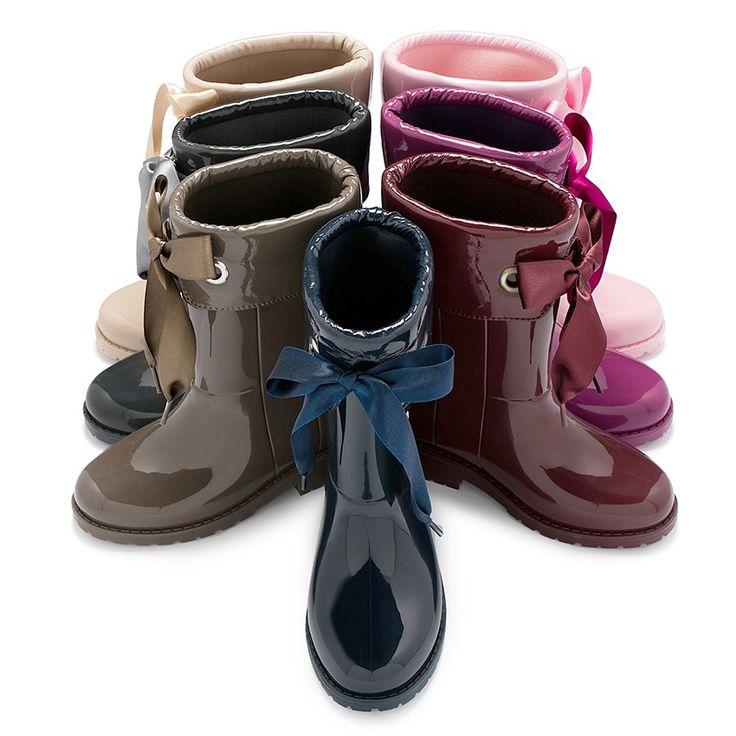 Bottes de pluie vernies de la marque Igor pour filles – magasin de chaussures d'enfants Pisamonas
