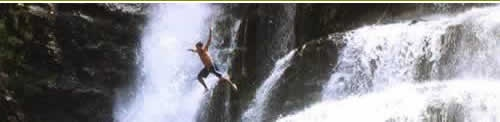 Repelling into a beautiful waterfall sounds like a lot of fun.