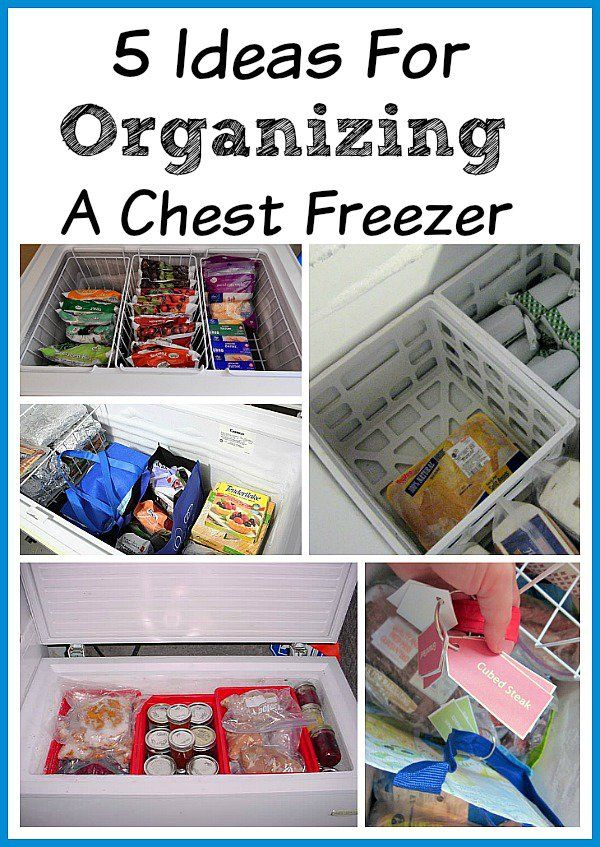 Organizing Your Chest Freezer | freezers are great for stocking up on food bought on sale. But part of saving money on groceries is knowing what you already have and that's hard if you don't have some sort of system for keeping your freezer organized! freezer organization, food organization, organizing tips, organizing ideas, organize your life