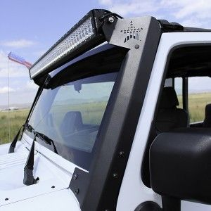 "Rockslide Engineering Jeep Wrangler JK Upper Windshield Mount for 50"" E/SR Series Light Bar"