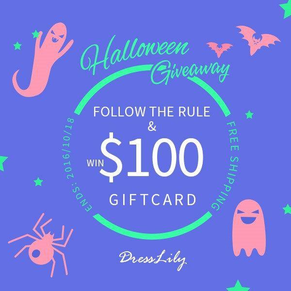 Sorteio relâmpago Dresslily Halloween – Vale compras de $ 100