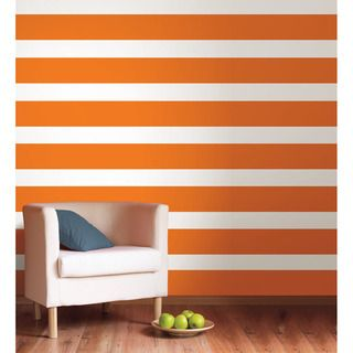 WallPops Totally Orange Stripe Decal Bundle Vinyl Wall Art WallPops Totally Orange Stripe Decal Bundle Vinyl Wall Art