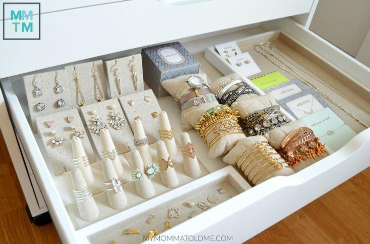 Stella & Dot Alex Ikea drawers jewelry storage ideas rings bracelets Stella Dot Spring 2016 collection