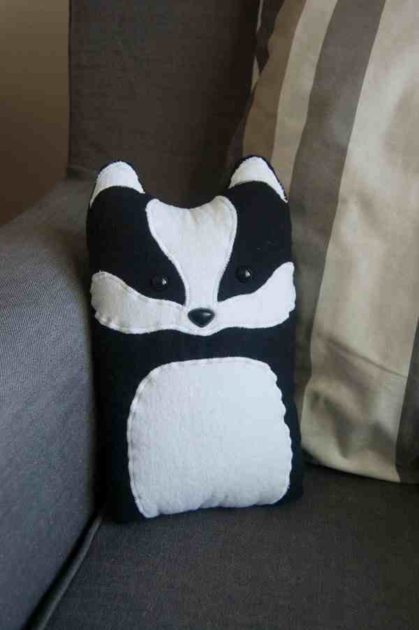 Badger pillow then put a scarf on it :D
