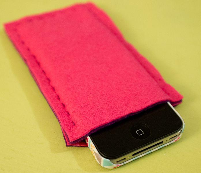 Godiche !-DIY ♥ Le joli étui en feutrine pour Iphone - Godiche !