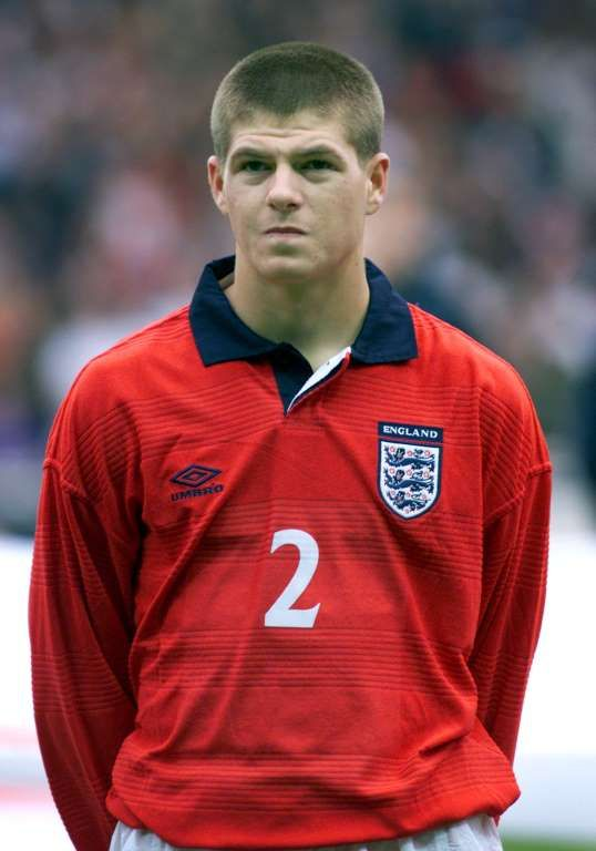 Steven Gerrard retires: from schoolboy to soccer legend:     England debut ﴾2000﴿:   Gerrard made his international debut for England in a 2‐0 friendly win against Ukraine on May 31 at the age of 20.