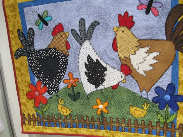 17 best images about gallinas en patchwork on pinterest appliques chicken quilt and hens - Gallinas en patchwork ...