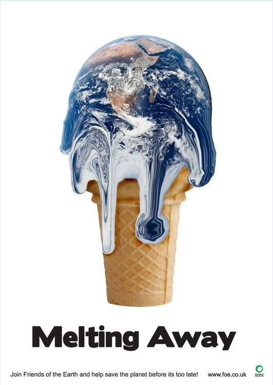 earth on a cone.
