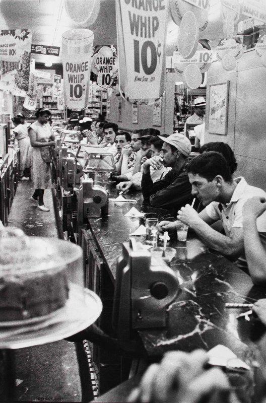 Drugstore, Detroit, 1955, © Robert Frank, from The Americans