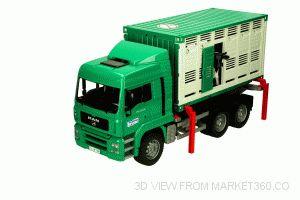 MAN Cattle Transportation Truck Including 1 Cow Bruder 02749
