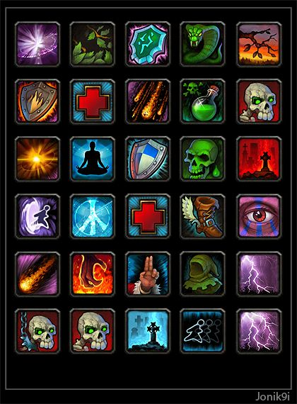 Icons for game 2. by ~Jonik9i on deviantART