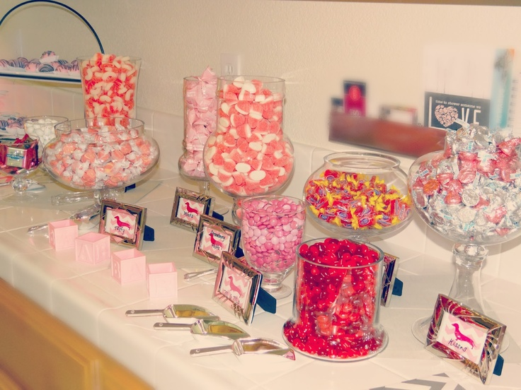 What a cute candy station!: Showers, Baby Fish, Candy Bars, Candy Buffet, Candy Stations, Bridal Shower, Baby Stuff, Baby Shower