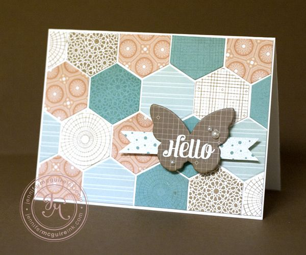 Love the hexagons on this card by @Jennifer McGuire using @Studio Calico and Hero Arts products!