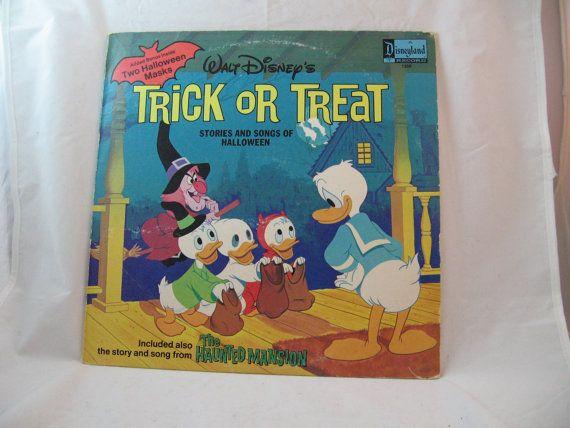 RARE Trick or Treat - Disneyland Walt Disney record 33 1//2 rpm