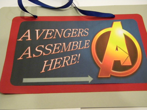 Avengers Party Door Sign