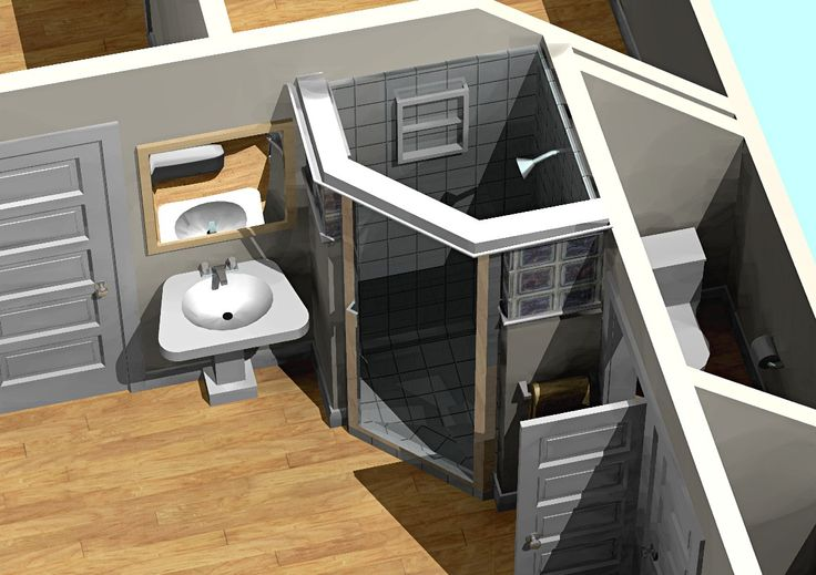 Small Bathroom Walk In Doorless Shower Designs Walk